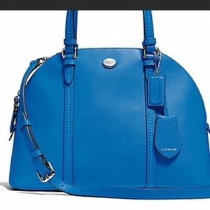 Blue COACH domed satchel